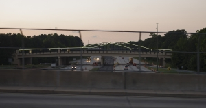 Skip Spann Connector, first lighted bridge in Cobb County