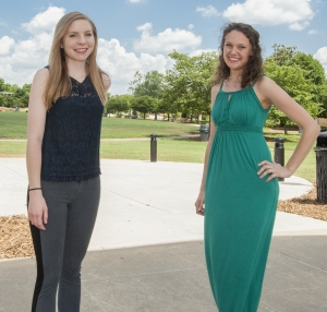 Katelyn King and Alyssa Varhol, Kennesaw State alumnae who earned 2015 Fulbright awards