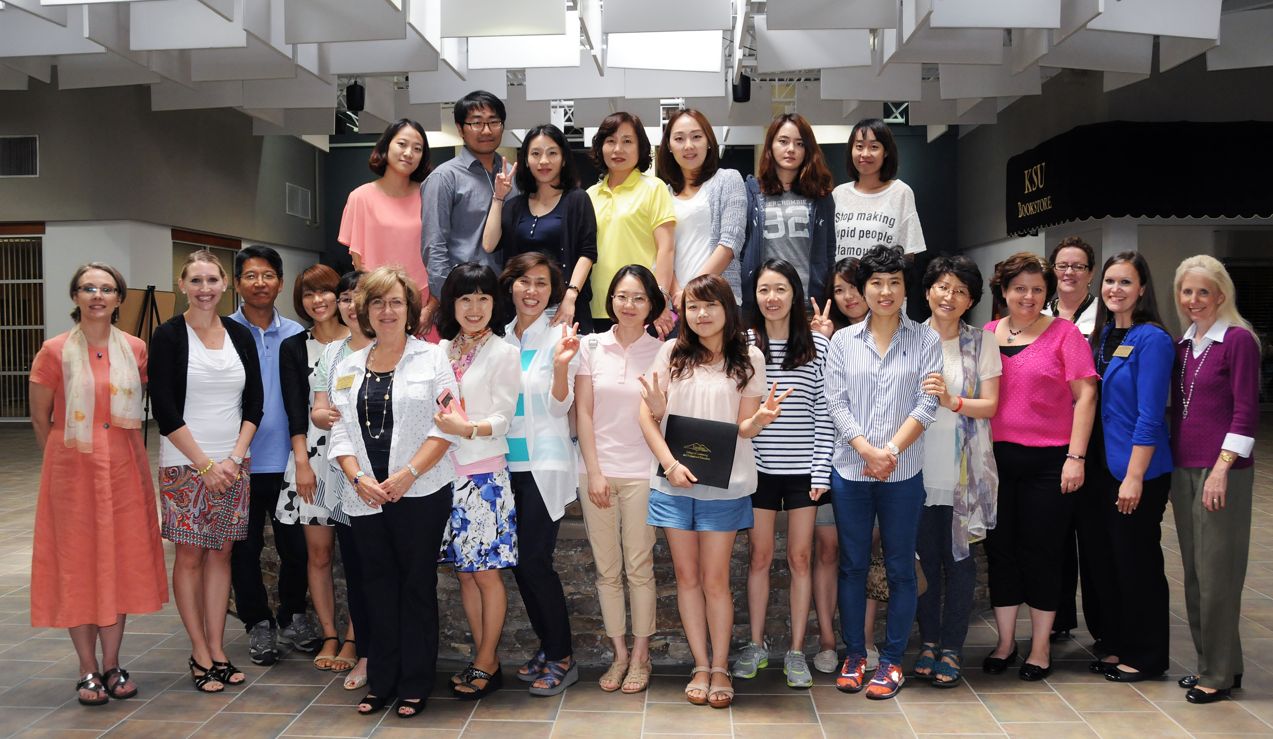 Most recent Korean ESL certificate students and ConEd faculty