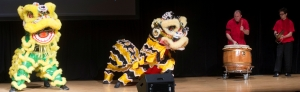 Chinese lion dance at Confucius Institute's 5th Anniversay celebration