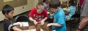Students learn about light refraction