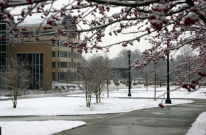 Snow in Front of Kennesaw Hall