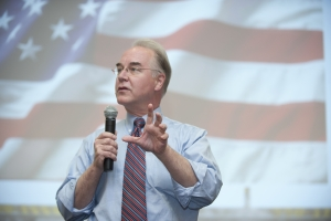 Rep.Tom Price during public lecture at Kennesaw State