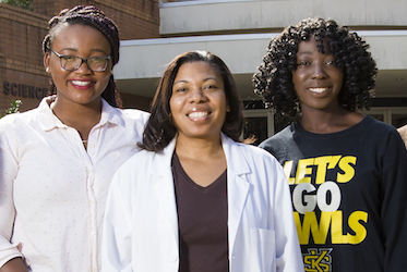 Dr. Melanie Griffin and two KSU LSAMP Scholars