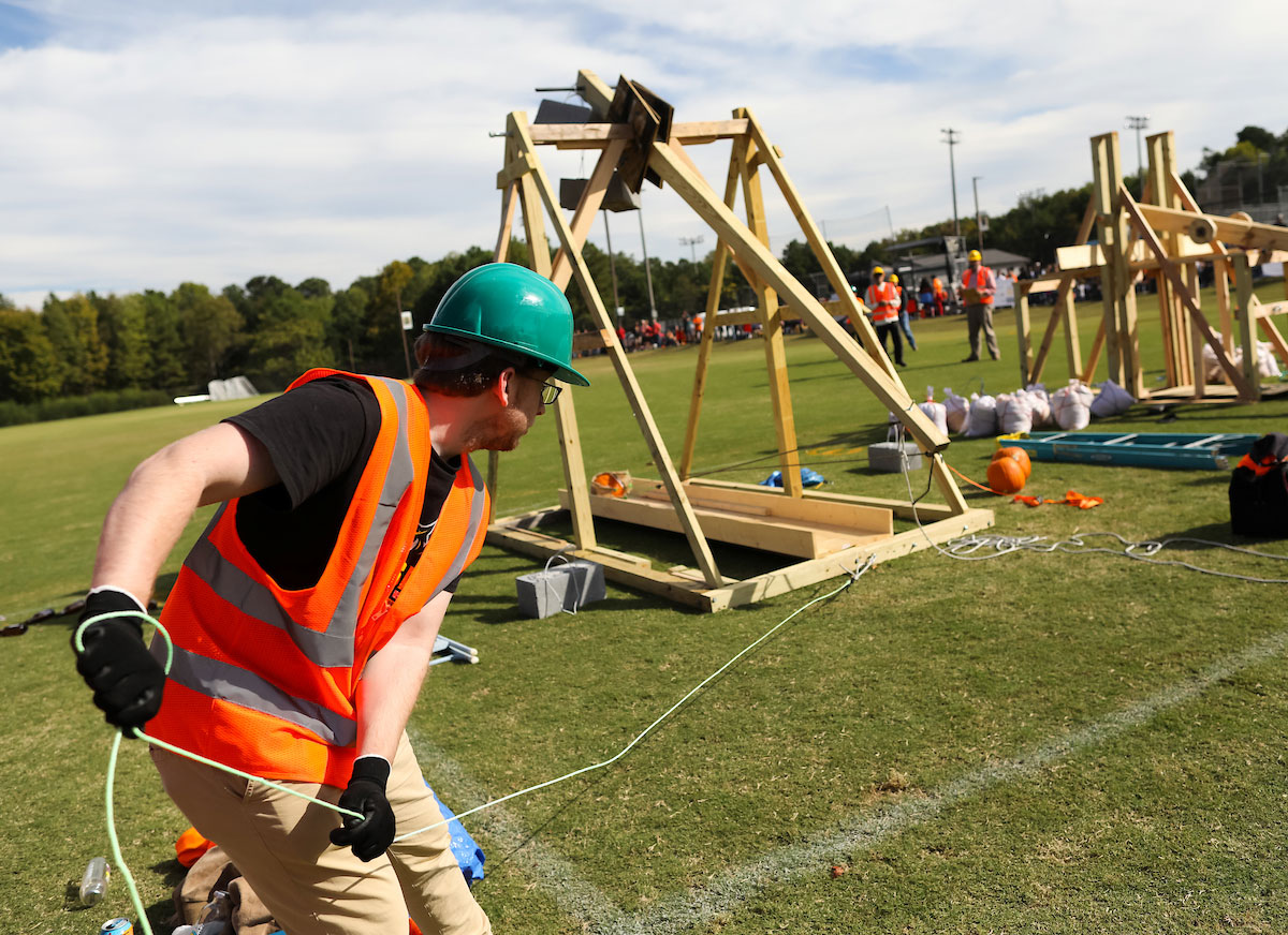 Student prepares for launch at Pumpkin Launch 2019