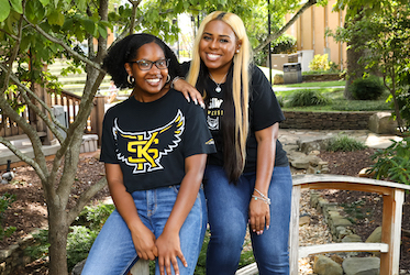 Danielle Griffin and Bri Burleson-Williams
