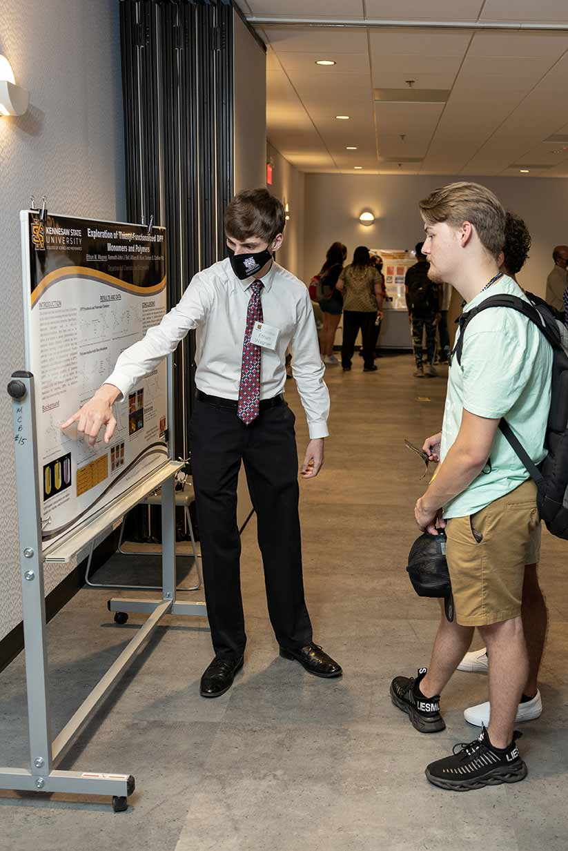 Photo of Ethan Wagner, top poster winner for the 2021 Birla Carbon Scholars